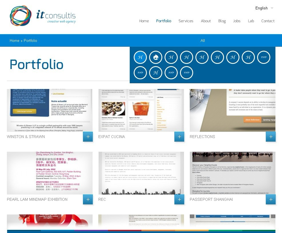 WordPress Portfolio work with Isotope and Infinite Scroll